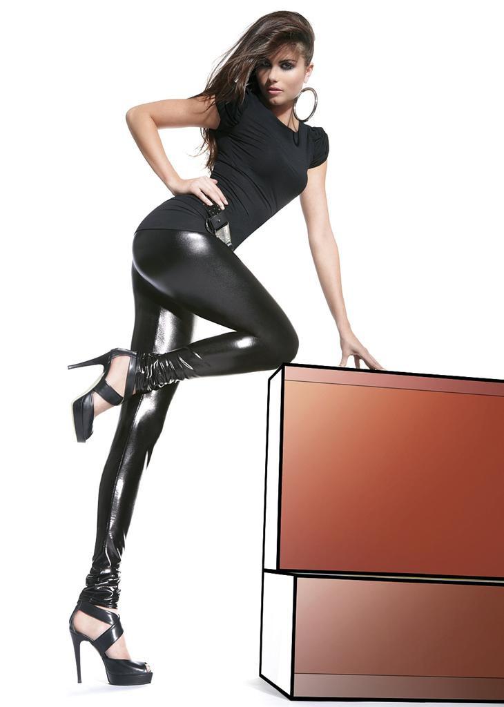 Legíny Niki - Bas Bleu Barva: černá, Velikost: L