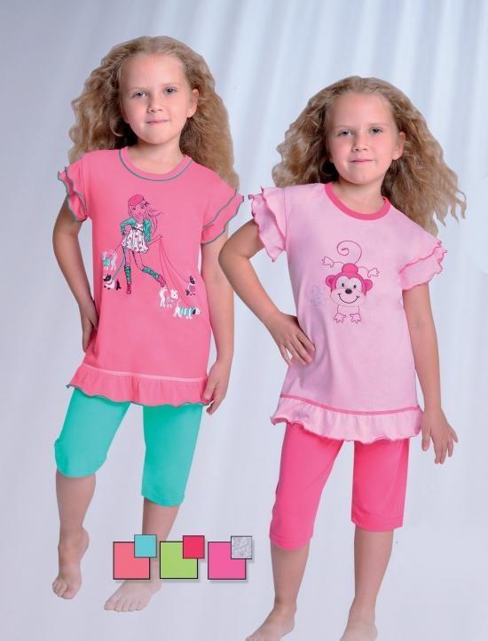 Dětské pyžamko Taro 727 Barva: růžovo-zelená, Velikost: 122