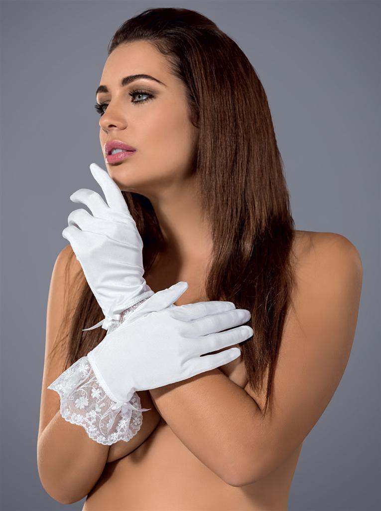 Rukavičky Etheria gloves - Obsessive Barva: bílá, Velikost: uni