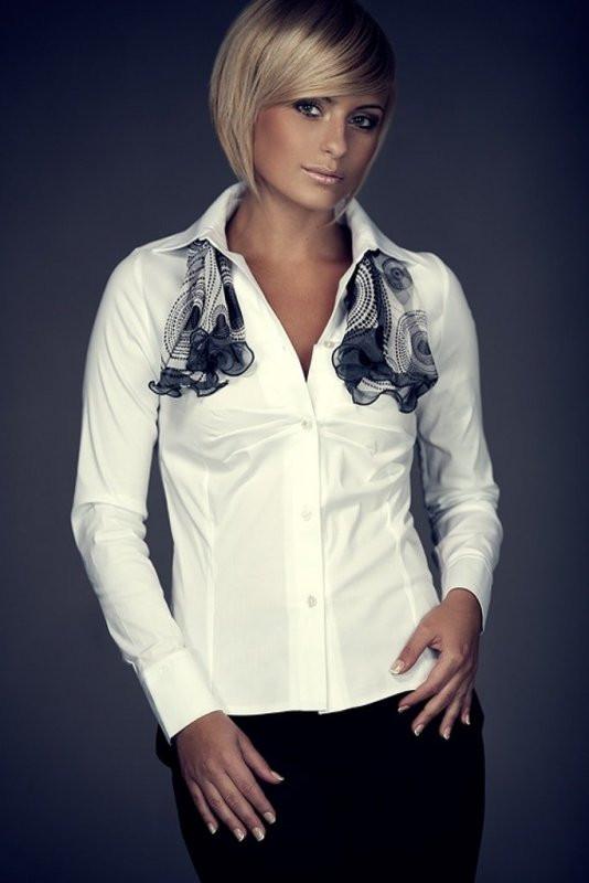 Dámská košile M021 - Figl Barva: fialová, Velikost: S