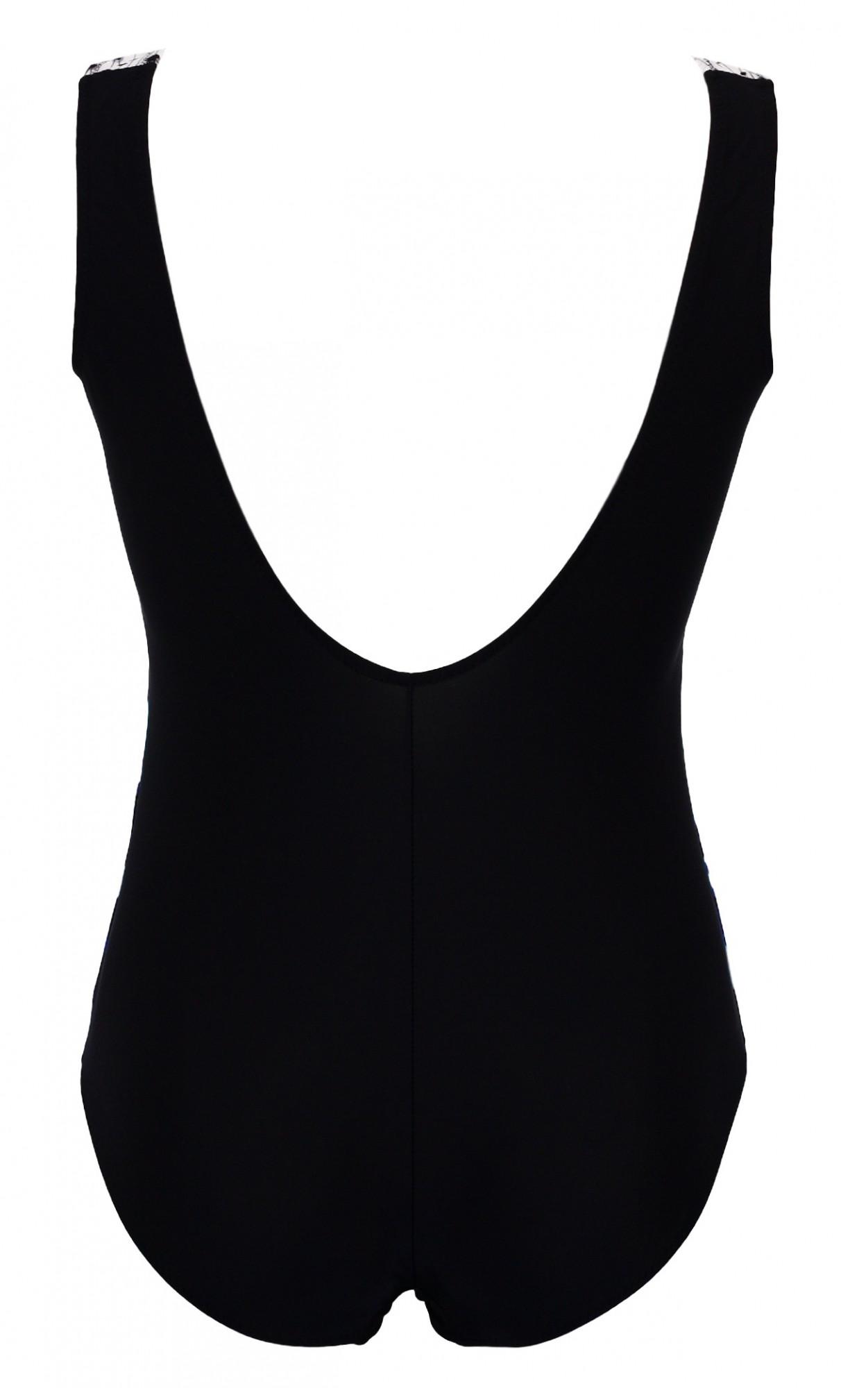 Dámské jednodílné plavky 39 - Primo Barva: modro - černá, Velikost: XL
