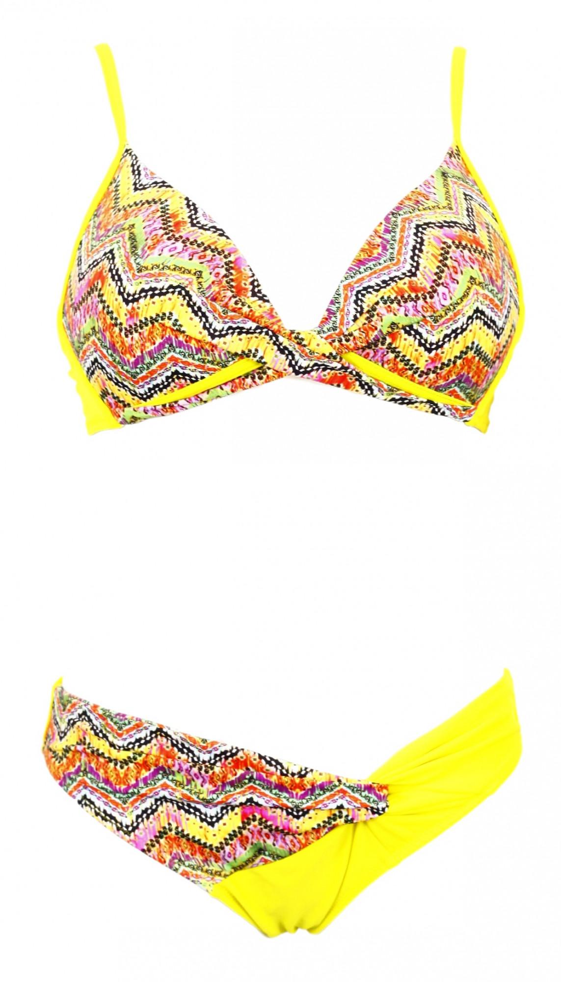 Dámské dvojdílné plavky 427 - Primo Barva: žlutá, Velikost: M