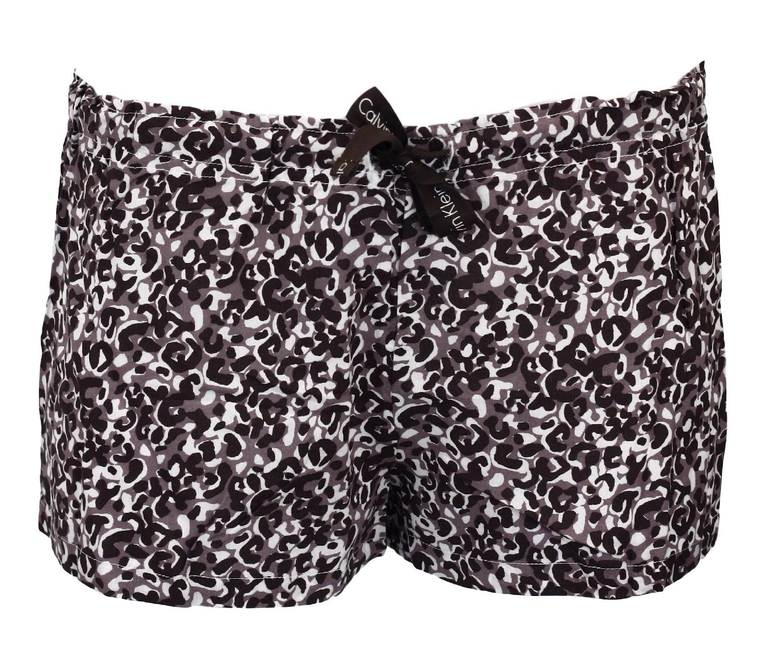 Dámské shorty QS1679E - Calvin Klein Barva: hnědá mix, Velikost: S