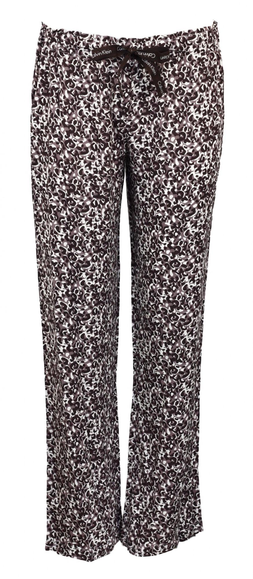 Dámské pyžamové kalhoty S1614E - Calvin Klein Barva: modro-bílo-šedá, Velikost: S
