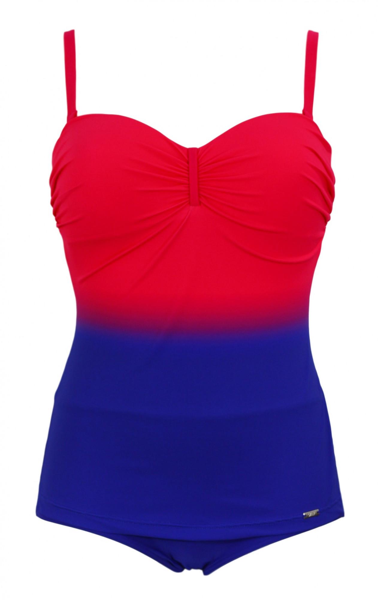 Dámské jednodílné plavky 806 C4 - Self Barva: modro-růžová, Velikost: 42D/E