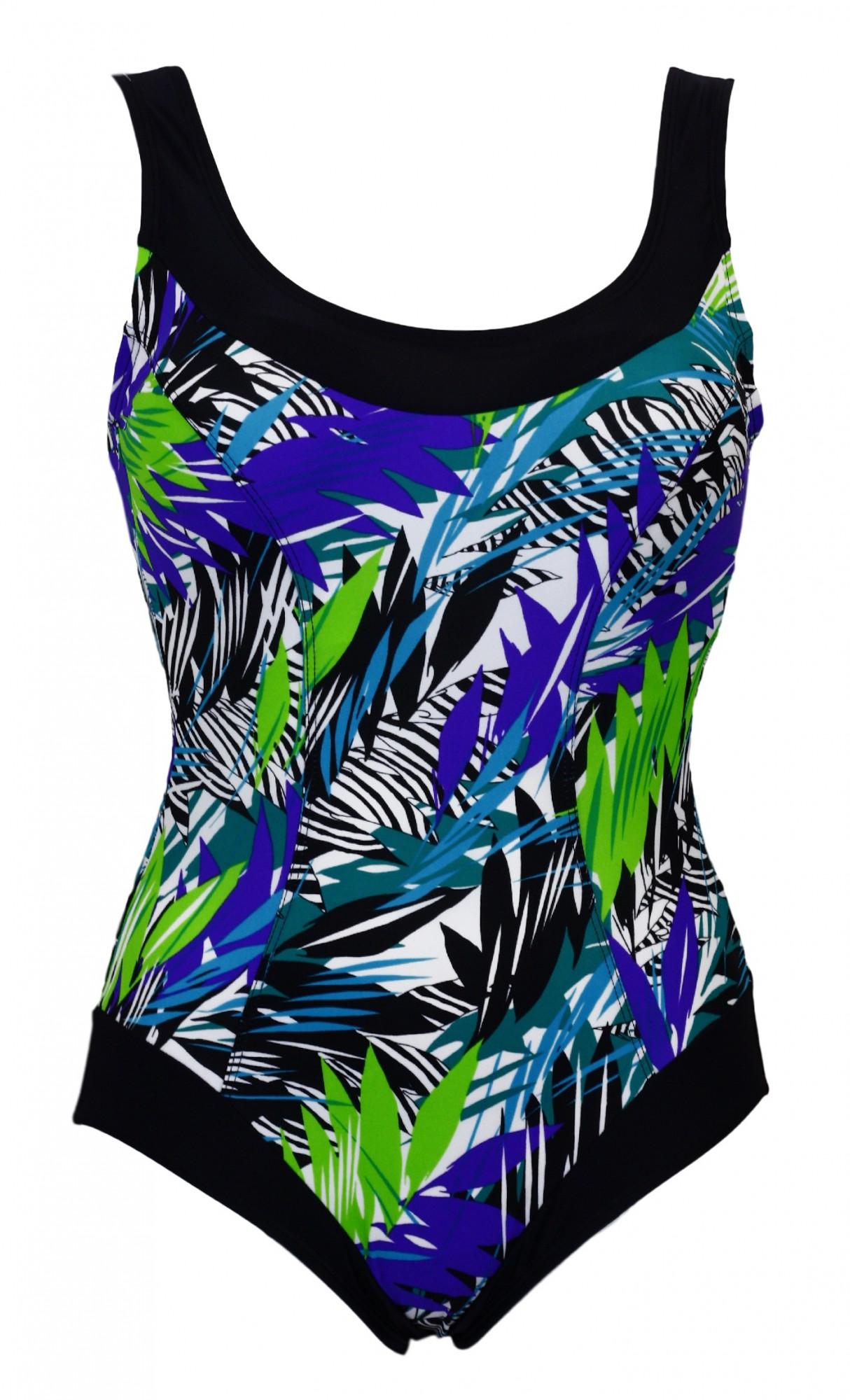 Dámské jednodílné plavky Mariss Selena Barva: modrá-vzor, Velikost: M