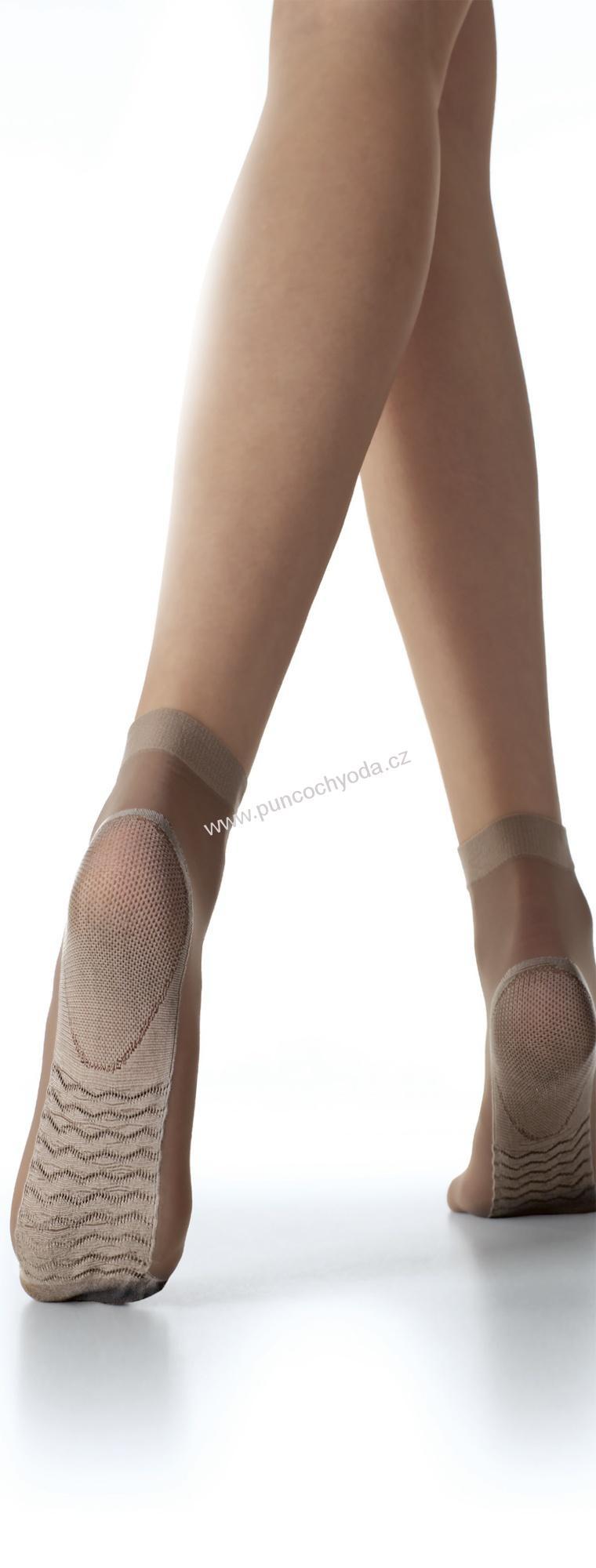 Masážní silonové dámské ponožky Massage socks, Fiore Barva: tělová, Velikost: uni