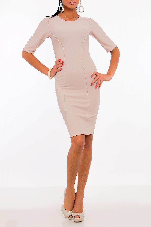 Dámské šaty model 52323 Vein béžová L