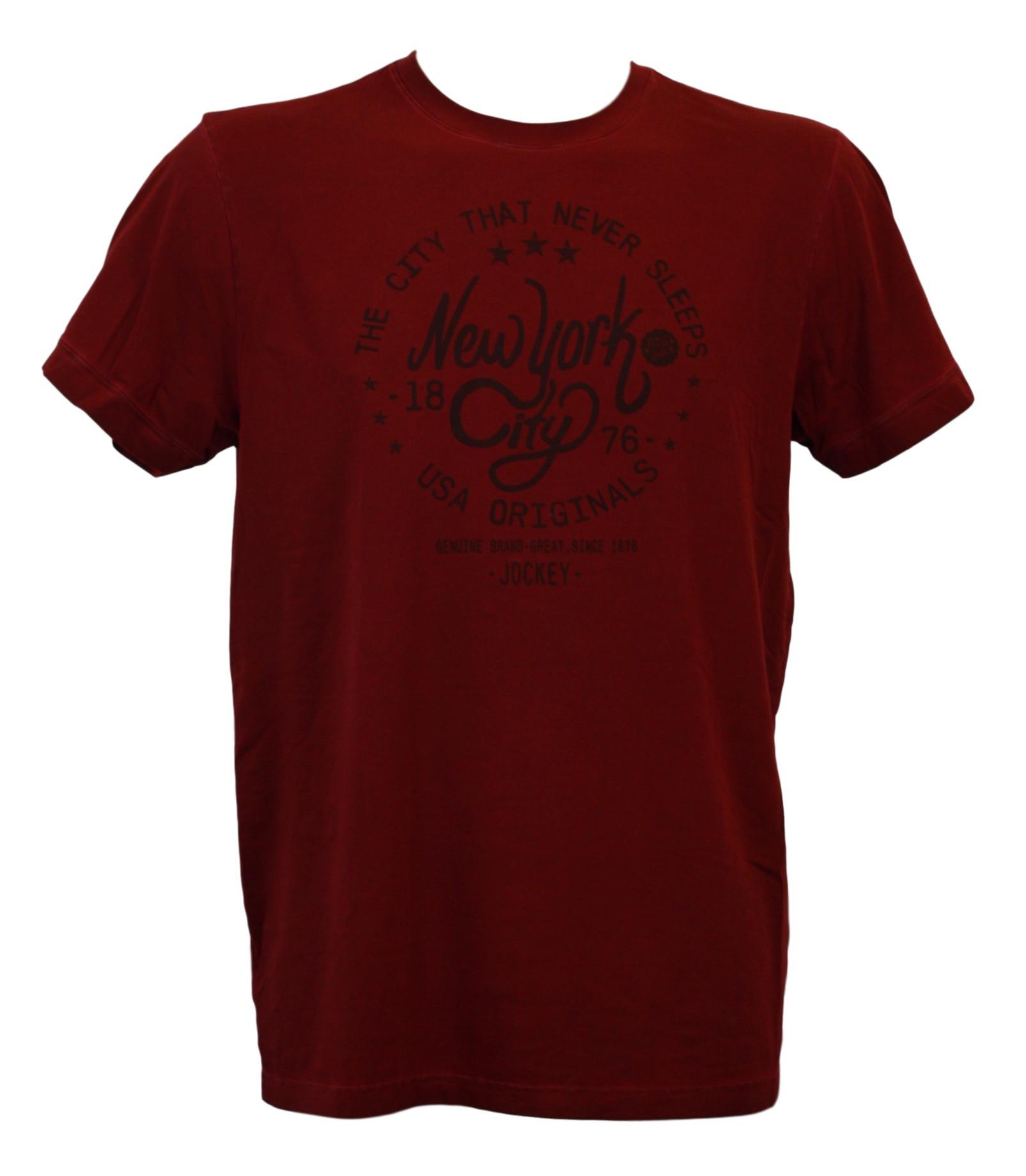 Pánské tričko 547001H - vínová - Jockey vínová L