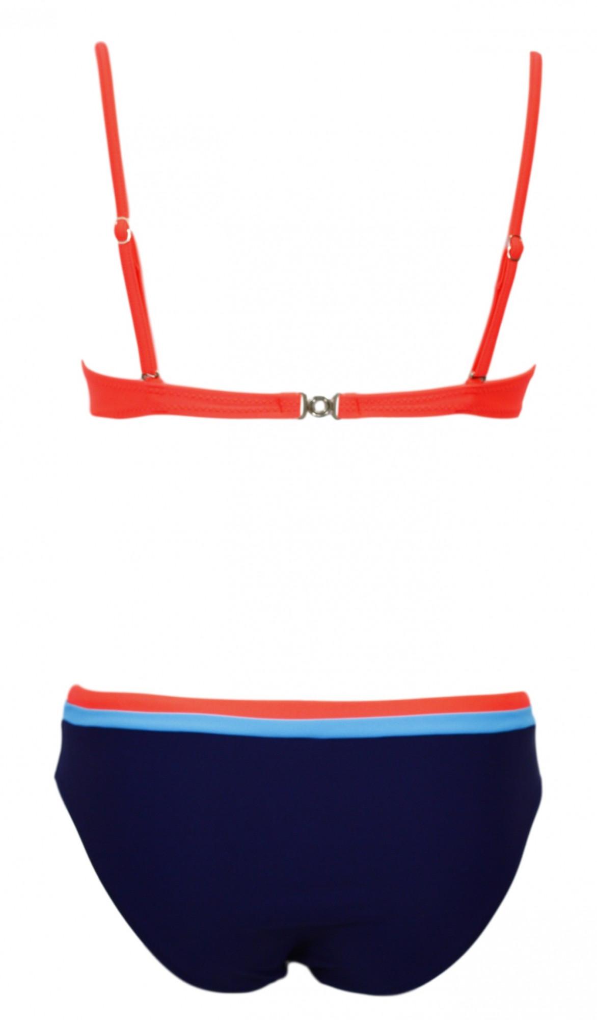 Dvoudílné plavky ,model 50325 Ewlon ,RODOS Barva: šedo-modrá, Velikost: 40