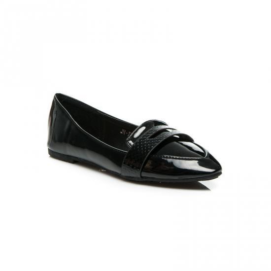 ČERNÉ BALERÍNY JN-72 - Fashion Boty Barva: černá, Velikost: 36