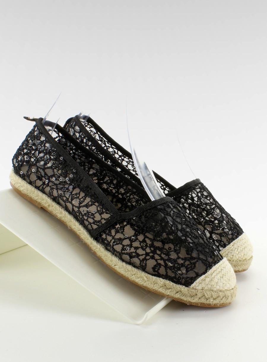 Dámské krajkové balerínky MB179 - Fashion Boty Barva: černá, Velikost: 35