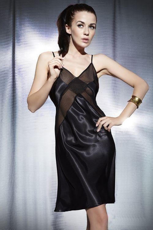 Dámská noční košilka 849 - Miran Barva: černá, Velikost: XL