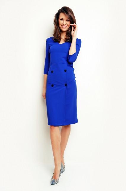Denní šaty model 56605 Karen modrá S