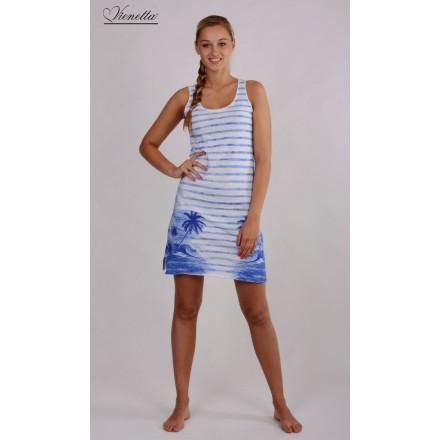 Dámská košilka Ostrov - Vienetta Barva: bílo-modrá, Velikost: S