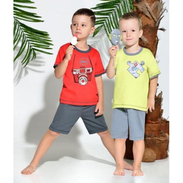Chlapecké pyžamo kr.r. Taro 939 Olo Barva: šedo-červená, Velikost: 110