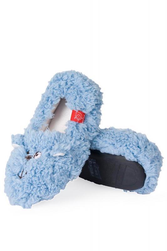 Dětské papuče Soxo plyšové Barva: modrá, Velikost: 28-30