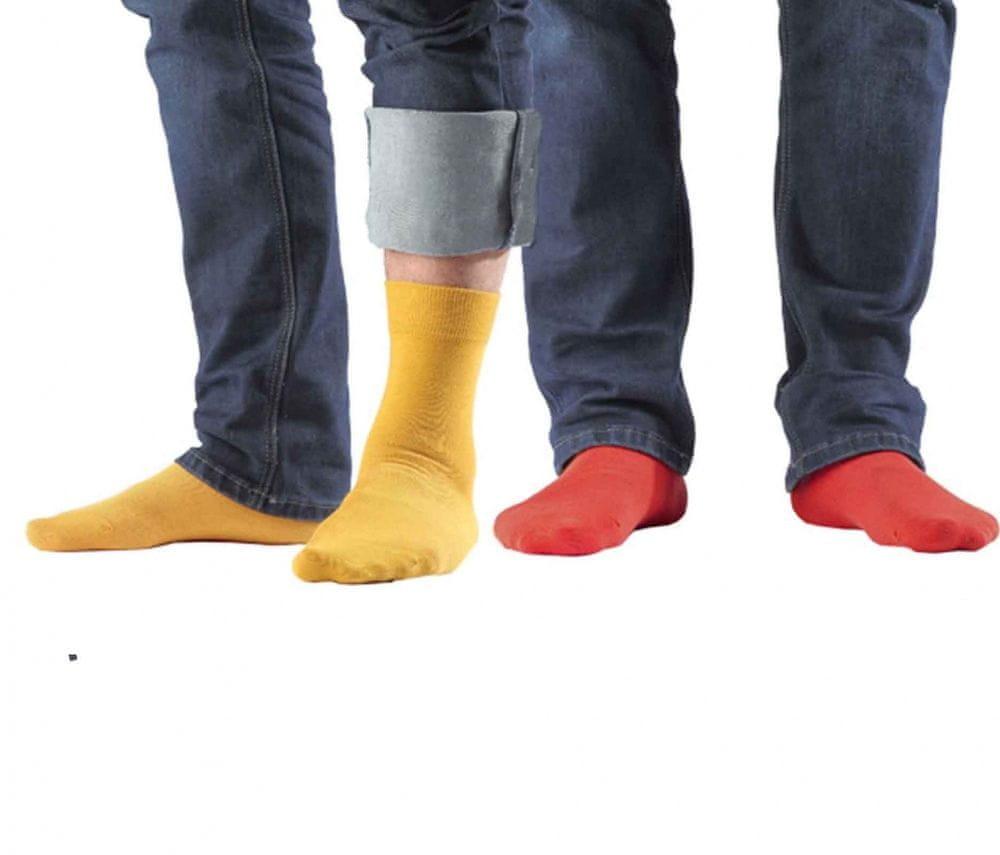 Pánské ponožky W94.N03 - Wola Barva: žlutá, Velikost: 42-44