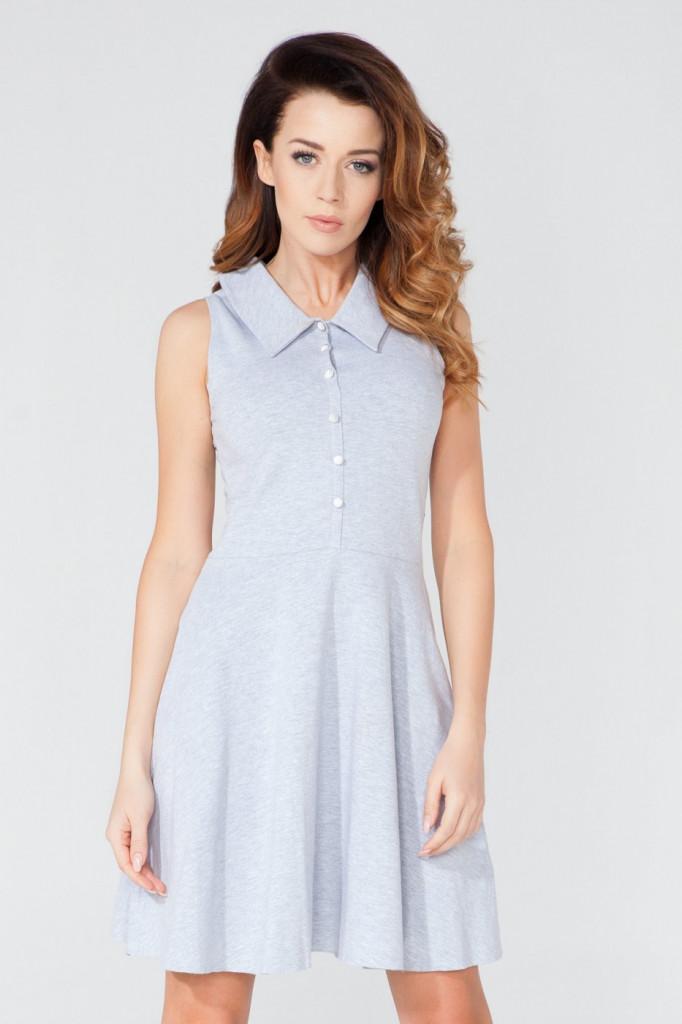 Tessita Denní šaty model T115/2 šedá L