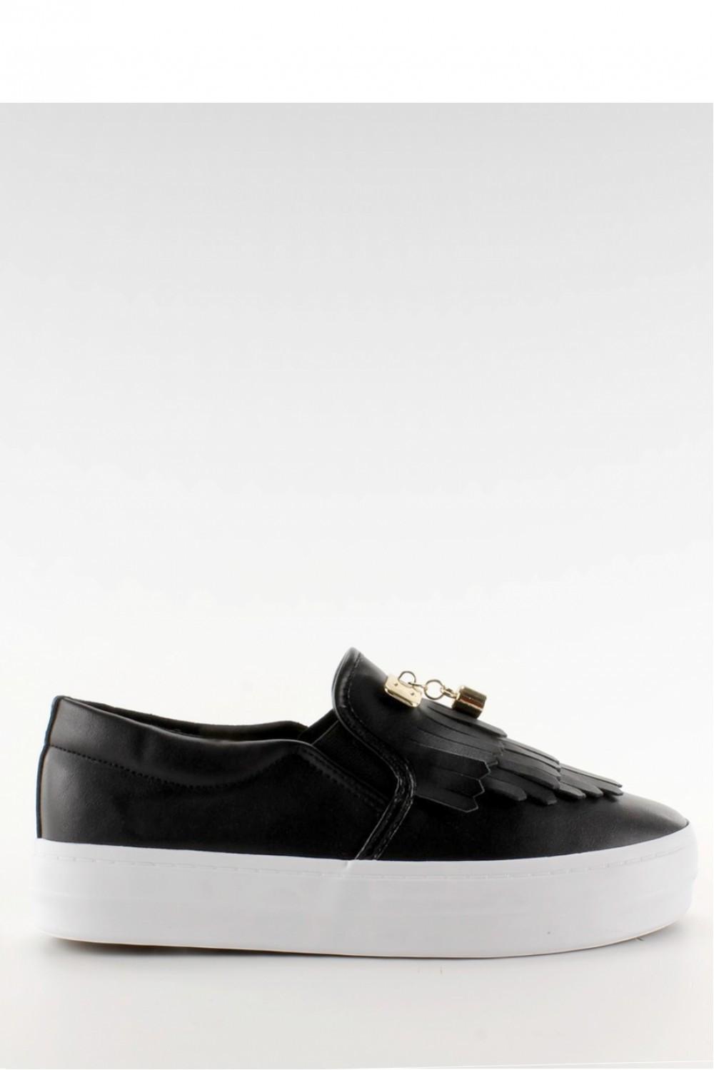 Černé tenisky slip on A-25 - Fashion Boty Barva: černá, Velikost: 38
