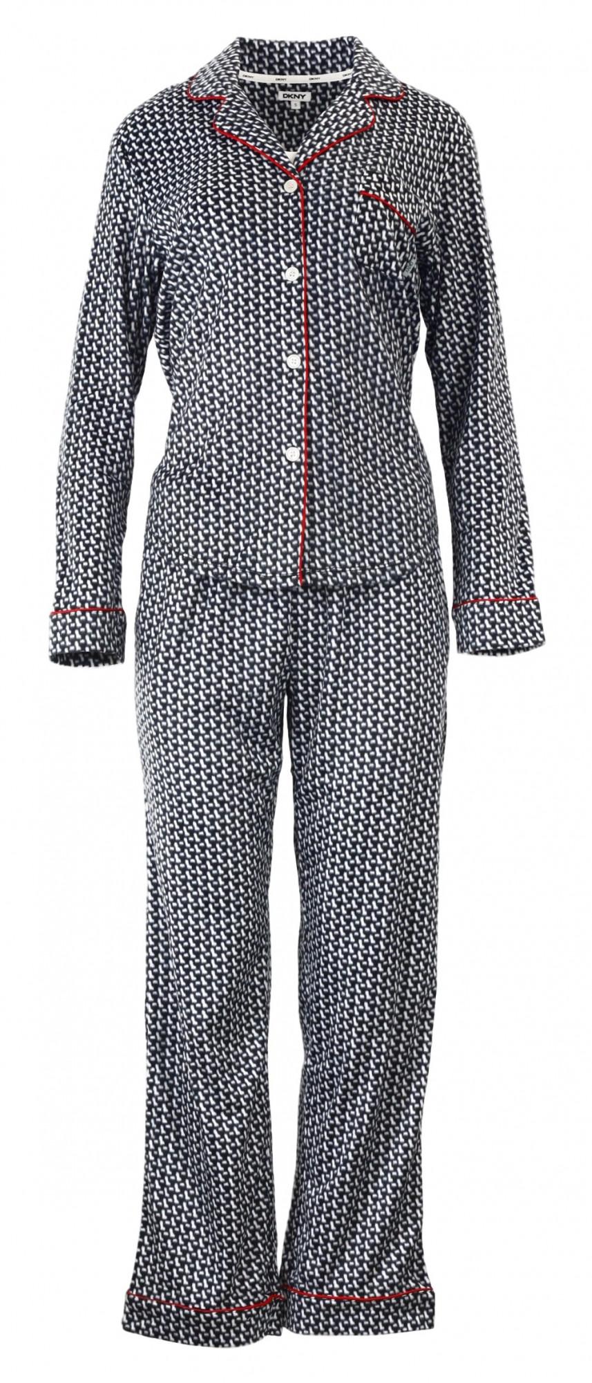 Dámské pyžamo YI2713489 - DKNY Barva: černobílá, Velikost: XS