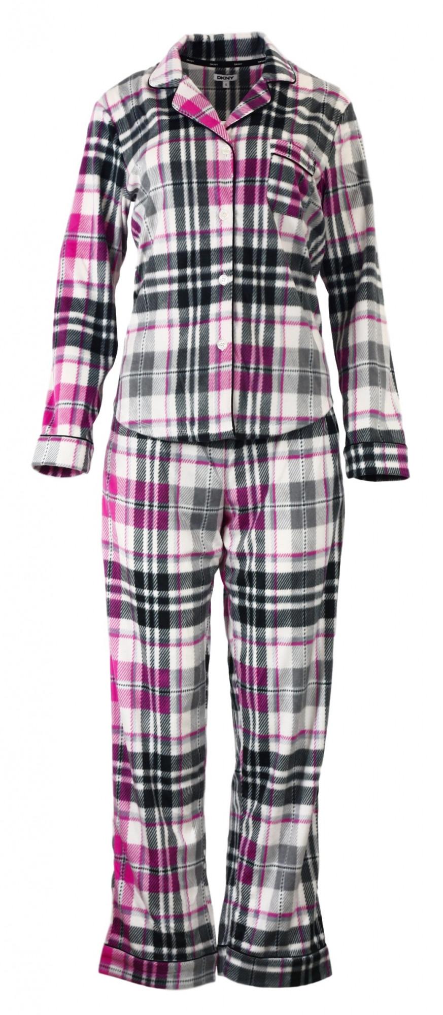 Dámské pyžamo YI2713489 - DKNY Barva: růžovo-šedé káro, Velikost: XS