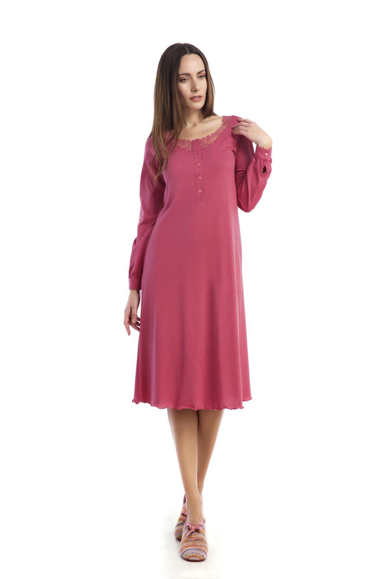 Dámská noční košile Bianca 00-10-2610 - Vamp Barva: modrá, Velikost: XL