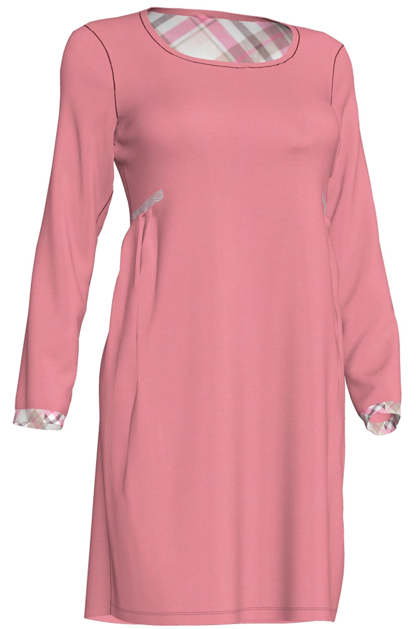 Dámská noční košile Viola 00-10-2657 - Vamp Barva: růžová, Velikost: S