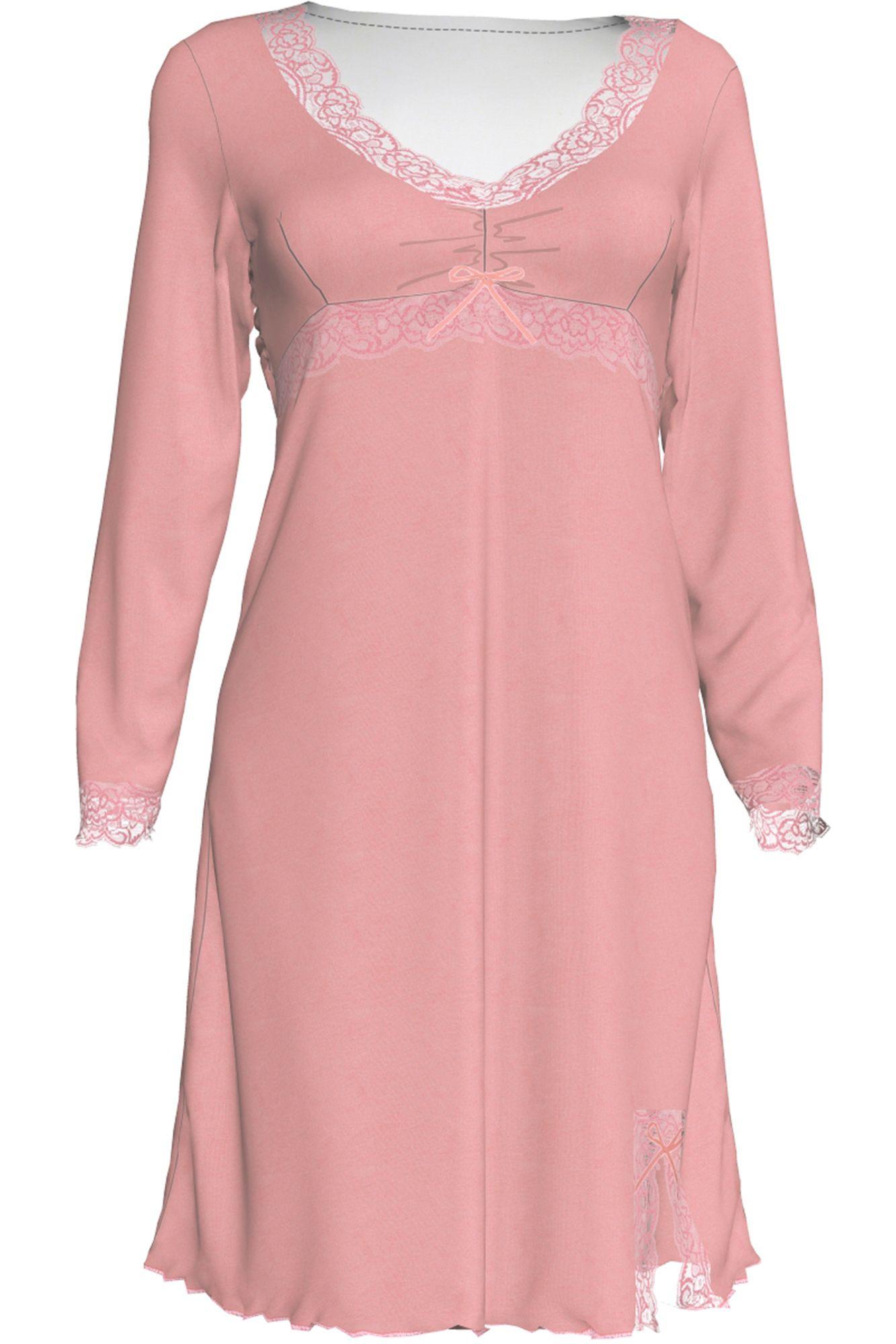 Dámská noční košile Diana 00-10-2689 - Vamp Barva: růžová, Velikost: L