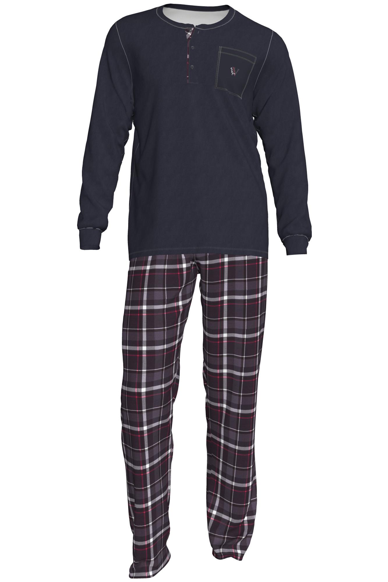 Pánské pyžamo Romeo 00-15-2828-298 - Vamp Barva: šedá, Velikost: L