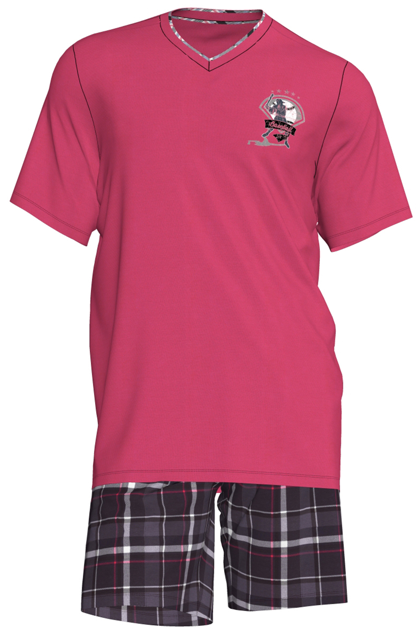 Pánské pyžamo Romeo 00-15-2831-308 - Vamp Barva: růžová, Velikost: M