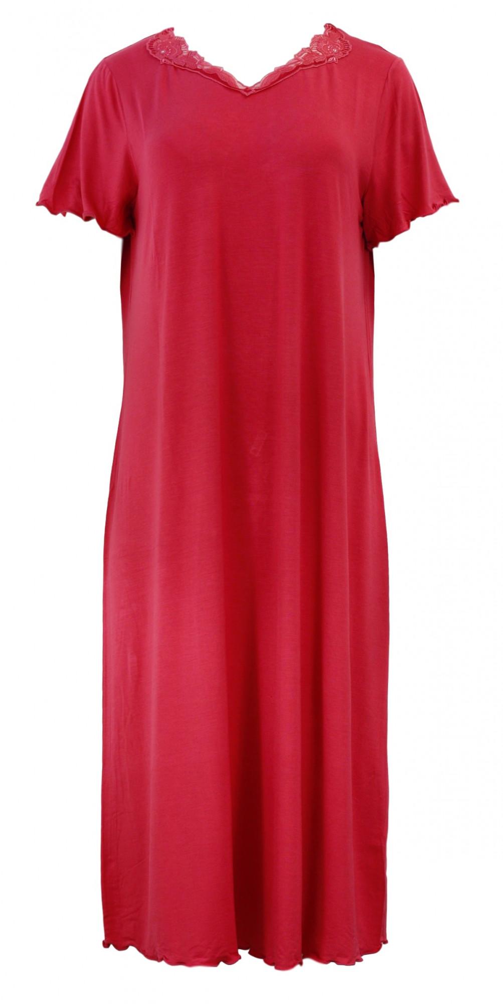Dámská noční košile Audrey 00-10-2702 - Vamp Barva: fialový ametyst, Velikost: L