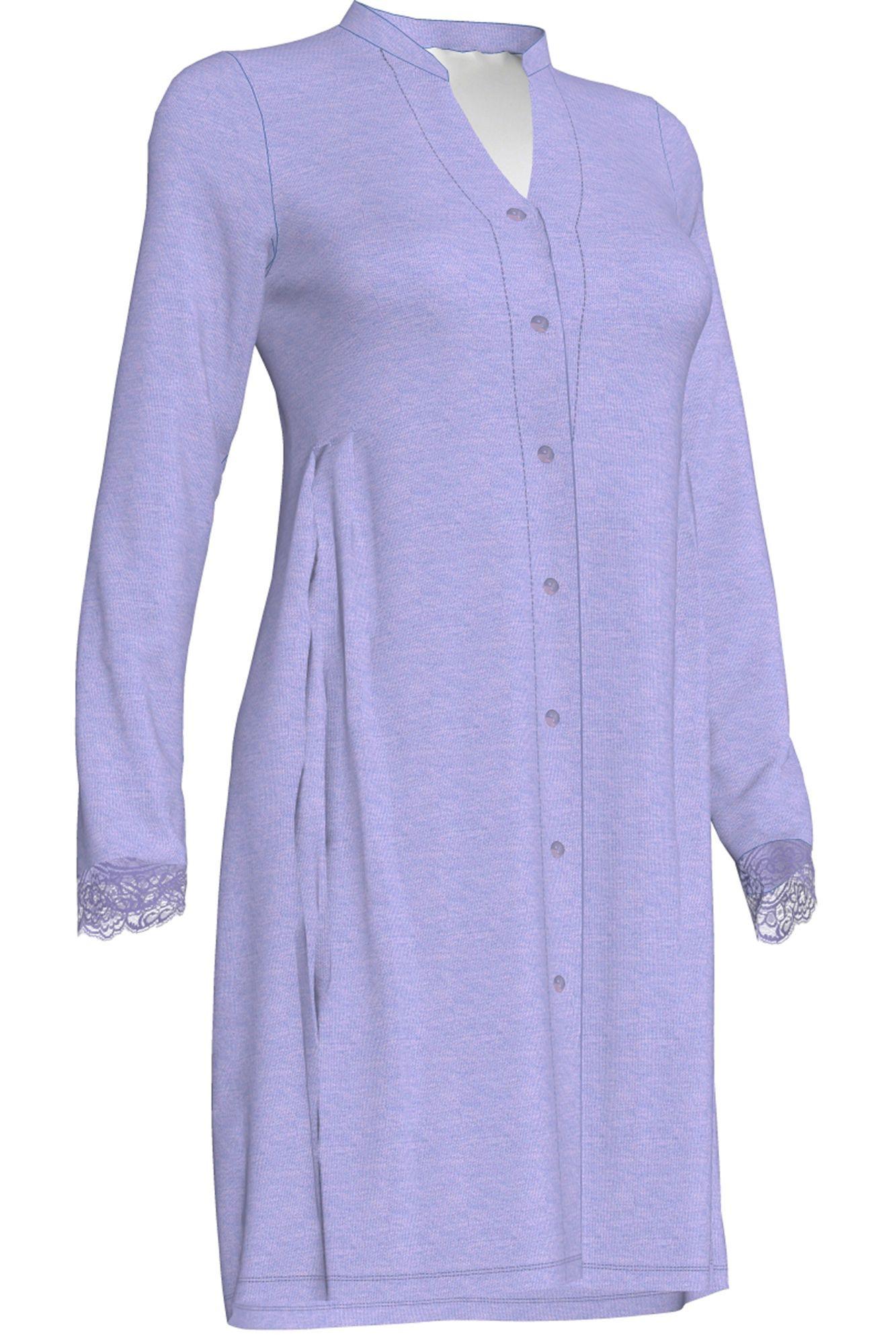 Dámská noční košile Luciana 00-10-2679 - Vamp Barva: levandulová, Velikost: M