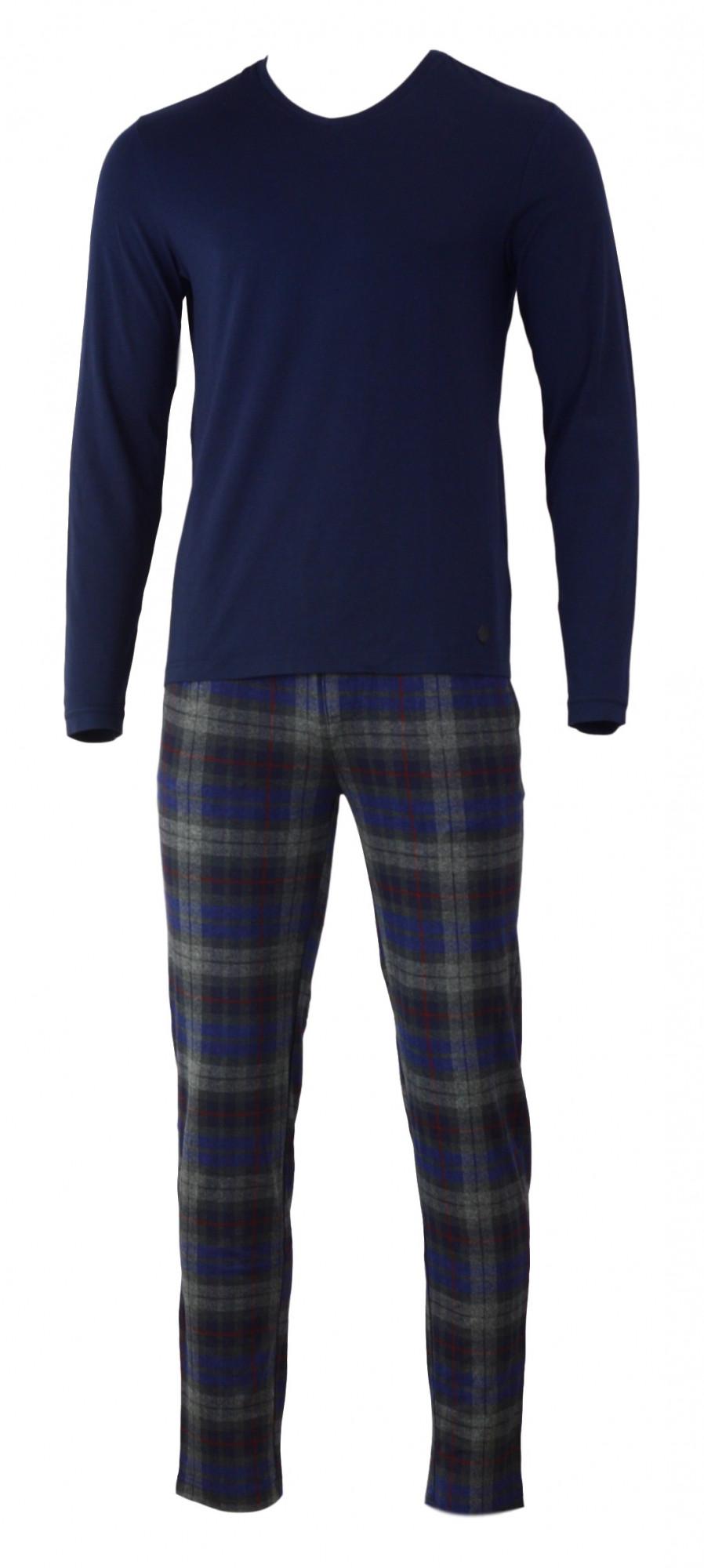 Pánské pyžamo 540023 - Jockey modro-šedá L