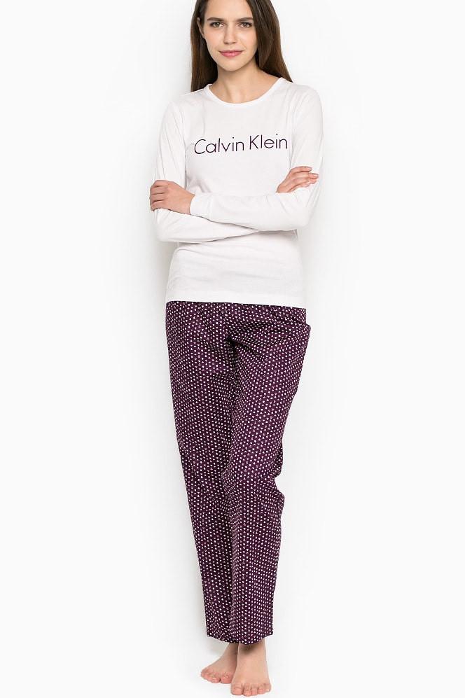 Dámské pyžamo QS5361E - Calvin Klein Barva: fialová, Velikost: L