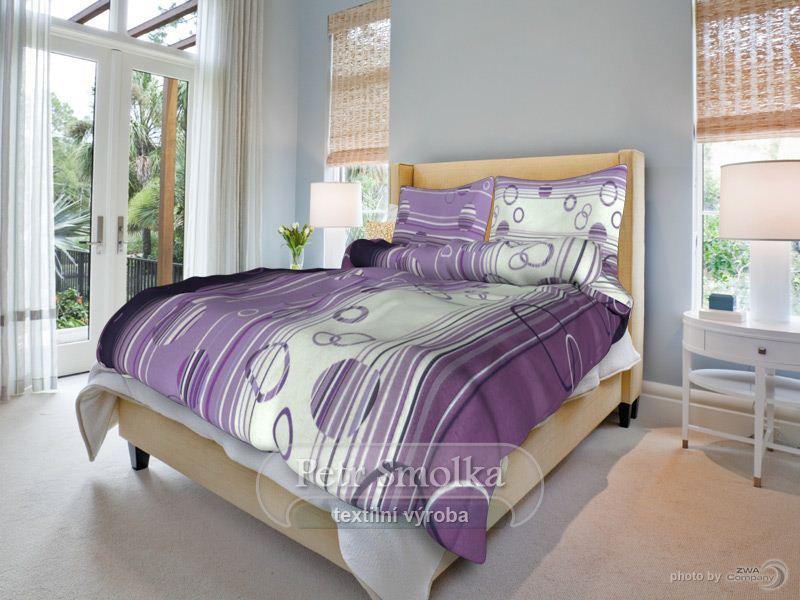 Povlečení Eva Lila Barva: fialová, Velikost: 70x90cm