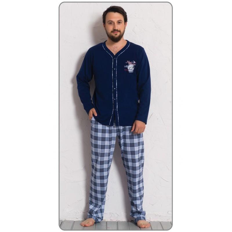 Pánské pyžamo Richard 0302 - Gazzaz Barva: modrá, Velikost: L