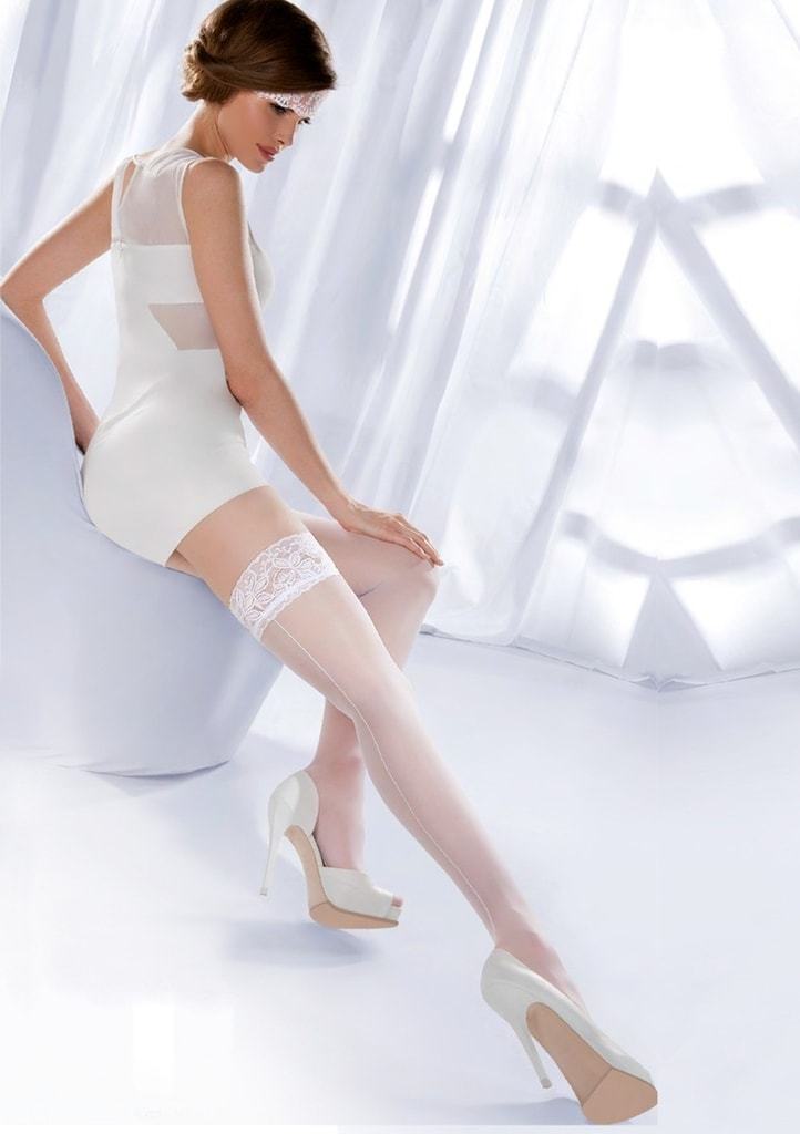 Punčochy Wedding Princessa Calze 05 - Gabriella Barva: bílá, Velikost: 3/4