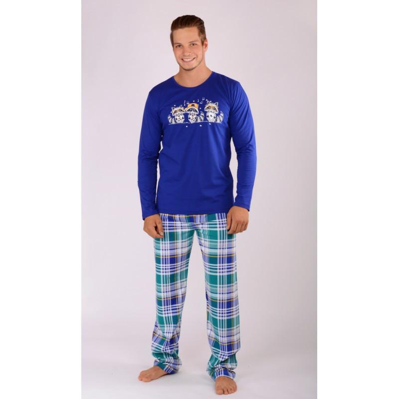 Pánské pyžamo Mývalové 4104 - Gazzaz Barva: modrá, Velikost: XXL