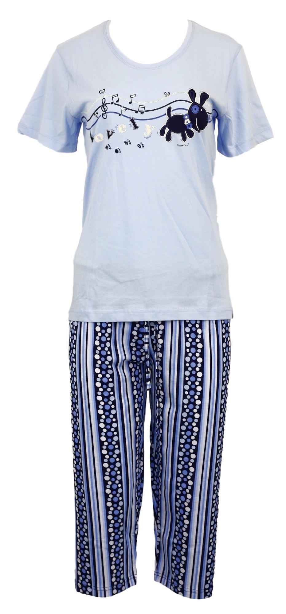 Dámské pyžamo - 4002 - Vienetta Barva: tyrkysová, Velikost: XL