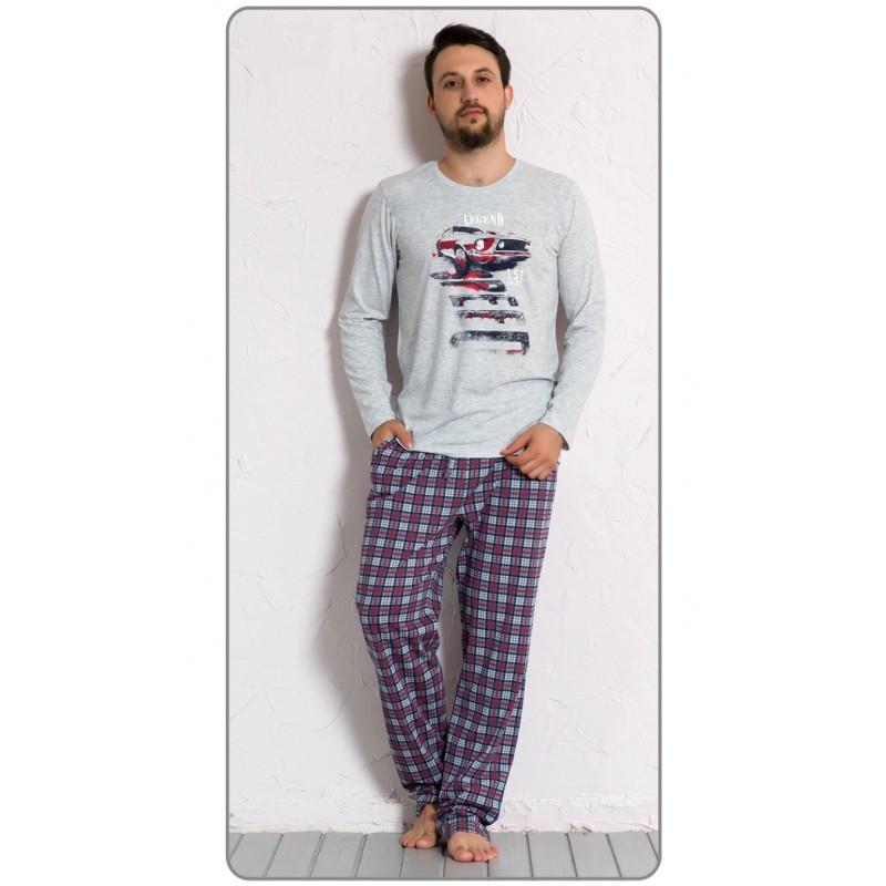Pánské pyžamo 5087 - Gazzaz Barva: šedá, Velikost: L