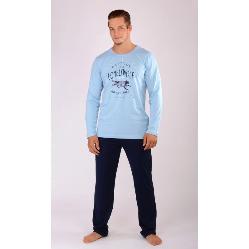 Pánské pyžamo 605202 - Gazzaz Barva: modrošedá, Velikost: L