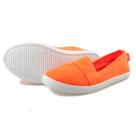 Neonové dámské tenisky slip on V21-20 - Fashion Boty Barva: oranžová, Velikost: 38