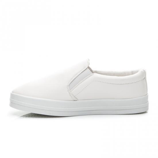 Dámské tenisky slip on B735 - Fashion Boty Barva: bílá, Velikost: 40