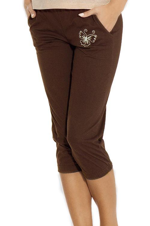 Dámské pyžamo 653 - Luna Barva: béžovo/hnědá, Velikost: XL