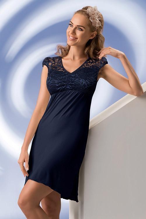 Noční košilka Sabina - Donna Barva: krémová, Velikost: 4-XL