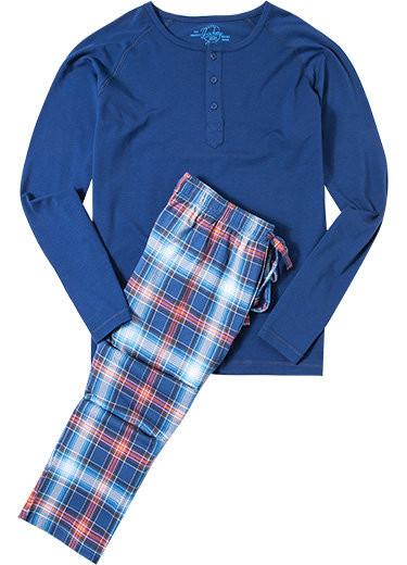 Pánské pyžamo 550010 - Jockey Barva: tm.modrá, Velikost: 3XL