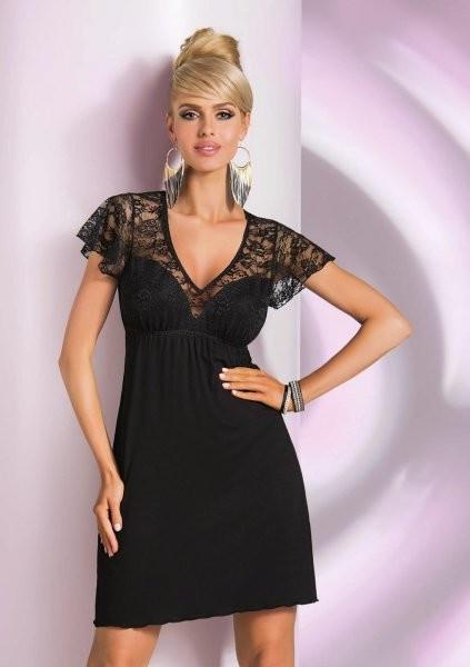 Noční košilka Linda - Donna Barva: černá, Velikost: XL