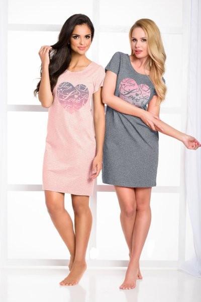 Dámská noční košile Amore 933 - Taro Barva: sv.růžová, Velikost: L
