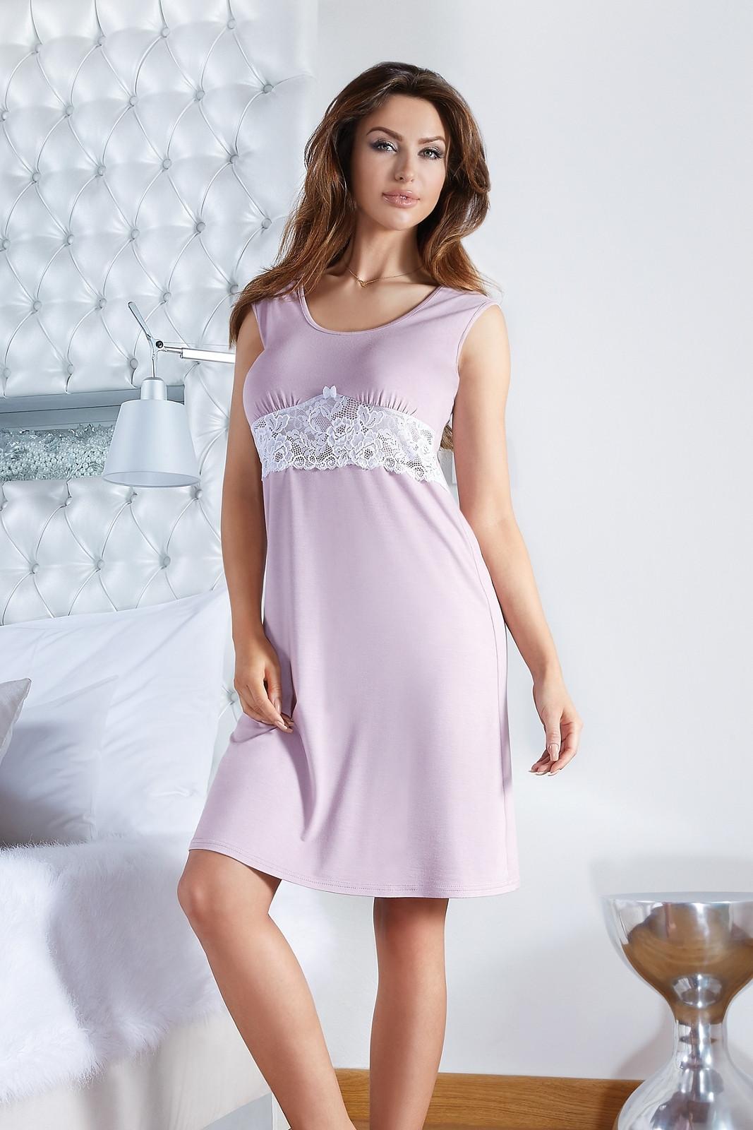 Dámská noční košile Roza - Babella Barva: staro růžová, Velikost: S